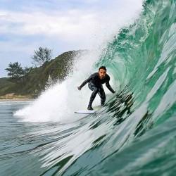Jonas Brocca é surfista local da Guarita - Foto Leandro Fuque