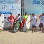 Pódio da categoria Open do Guarita Eco Festival de Surf - Foto Torrica Photosurf Club